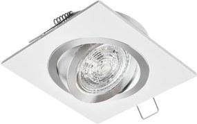 PREMIUMLUX Podhľadové bodové svietidlo JOTA K/1 štvorcová drapaná biela