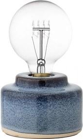Bloomingville Porcelánová stolná lampa Blue