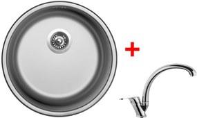 Set Sinks ROUND 450 V matný + batéria EVERA