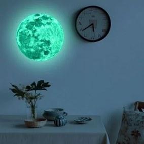 Master Samolepka na stenu svietiaci mesiac - 20 cm