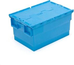Úložný box, 55 L, Š 400 x D 600 x V 300 mm, modrý
