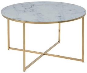 Alisma konferenčný stolík R80 sivá / zlatá