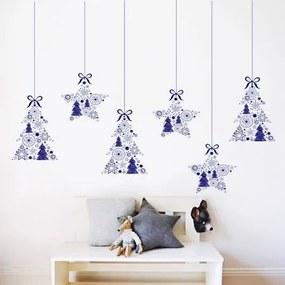 Housedecor Vianočné dekorácie na stenu Stromečky a hviezdičky