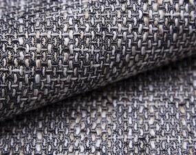 Sedacia súprava Rumba, tvar U, biela ekokoža/melírová tkanina