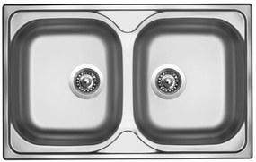 Sinks nerezový drez CLASSIC 800 DUO V matný