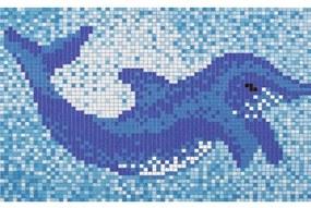 Mozaikový obraz Delfín veľký 160 cm široký 110 cm vysoký
