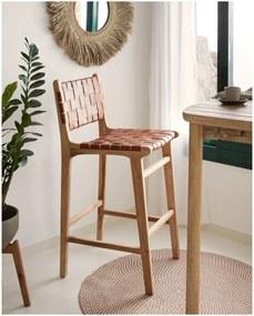 LA FORMA Prírodná barová stolička Calixta