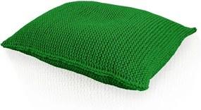 Pletený vankúš zelený obdĺžnik - 40x50cm