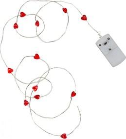 STAR TRADING Svetelný LED drôtik Red Heart