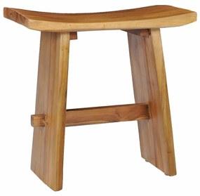vidaXL Stolička masívne teakové drevo