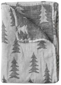 Fine Little Day Ľanová osuška Gran Black 139x90 cm