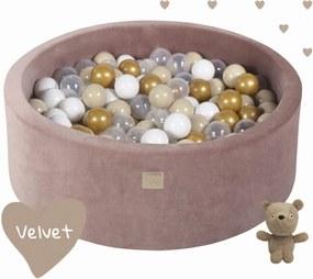 Suchý Bazén Meow Velvet, Teddy Bear s 200 loptičkami - Rozmer 90x30