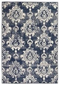 vidaXL Moderný koberec, paisley dizajn, 160x230 cm, béžovo-modrý