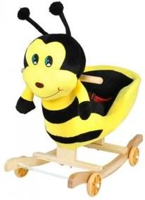 DR Plyšová hojdačka s kolieskami 2v1 - včielka