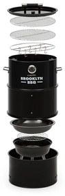 Brooklyn-BBQ, 4 v 1 grilovací súdok, Ø 42 cm, oceľ, práškové lakovanie