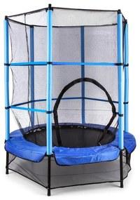 Rocketkid, 140 cm trampolína, vnútorná bezpečnostná sieť, bungee pružiny, modrá