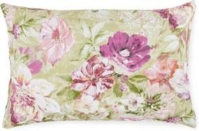 Obdĺžnikový vankúš pastelové kvety - 45x70 cm