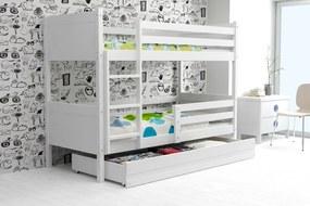 Poschodová posteľ RINO 190x80cm - Biela - Biela