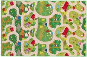 House of Kids Detská obojstranná hracia podložka Easy Fun, 100x150 cm