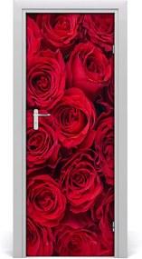 Samolepiace fototapety na dvere  červená ruža