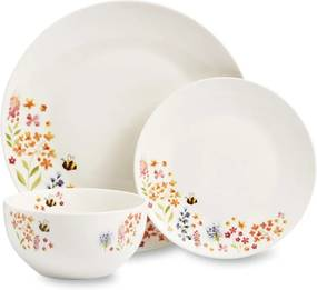 12-dielny set riadu z porcelánu Cooksmart ® Bee Happy