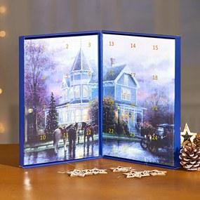 "Magnet 3Pagen Adventný kalendár ""Zimná dedinka"""