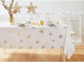 Obrus Zlaté hviezdy Barva: biela, Velikost: 140x200 cm