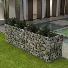 Oceľový gabiónový kvetináč, 360x90x100 cm
