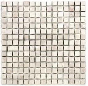 Divero 27855 Mramorová mozaika krémová 30 x 30 cm 1 ks