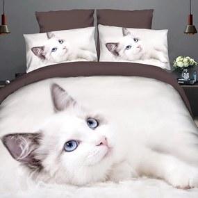HOD Posteľné obliečky WHITE CAT 3 set 140x200cm