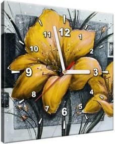 Obraz s hodinami Nádherné žlté Vlčie maky 30x30cm ZP2455A_1AI