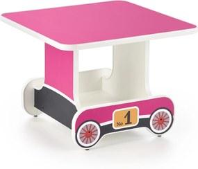 Detský písací stôl Lokomotíva, ružový