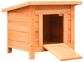 vidaXL Domček pre mačku 50x46x43,5 cm borovicové a jedľové drevo