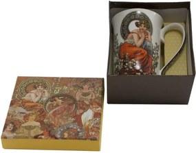 Porcelánový hrnček v darčekovej škatuľke HOME ELEMENTS Mucha, 400 ml