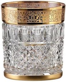 Bohemia Crystal ručne brúsené poháre na whisky Felicie Romantic 300ml