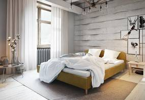 Expedo Čalúnená posteľ LIFE, 180x200, itaka 33 + rošt + penový matrac 14cm