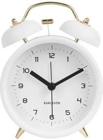 KARLSSON Budík Classic Bell biely