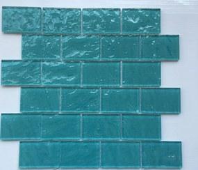 Sklenená mozaika Premium Mosaic tyrkysová 30x30 cm lesk MOS4872TU