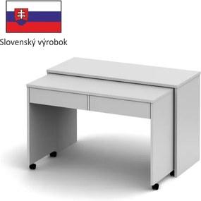 TEMPO KONDELA Versal New rozkladací pc stolík biela