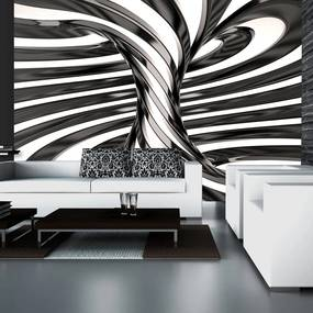 Fototapeta - Black and white swirl 300x210