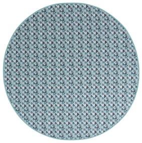 MERADISO® Bavlnený umývateľný obrus (s potlačou / šedá / modrá, okrúhle ), viacfarebná / šedá / modrá (100299743)