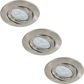 Paulmann Paulmann 92028 - SADA 3x LED podhľadové svietidlo QUALITY LINE 3xGU10-LED/6,5W BA0188