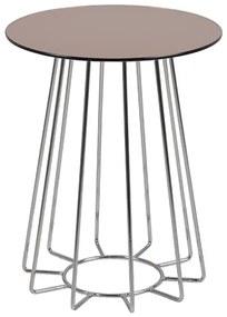 Casia príručný stolík bronz/chróm