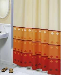 Bellatex Sprchový záves Geometria oranžová, 180 x 200 cm