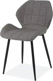 Jedálenská stolička Hals tmavo sivá
