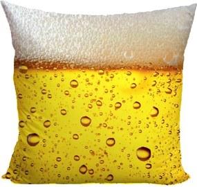 Vankúš Pivo (Veľkosť: 55 x 55 cm)