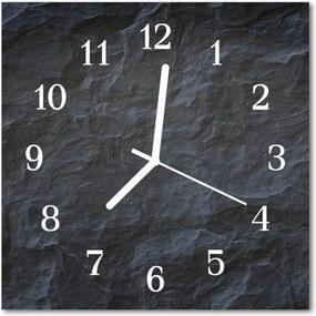 Sklenené hodiny štvorcové  kamene