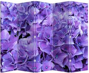 Paraván - Fialová kvetina (225 x 180 cm)