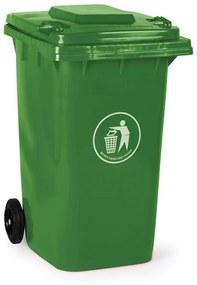 Plastová popolnica 240 litrov, zelená