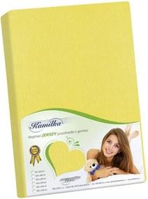 Bellatex Jersey prestieradlo Kamilka žltá, 100 x 200 cm